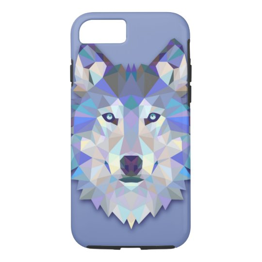 t te g om trique de loup de loup en cristal coque iphone 7 zazzle. Black Bedroom Furniture Sets. Home Design Ideas