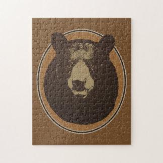 Tête montée d'ours d'empaillage puzzle
