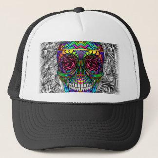 Tête morte en spirale d'art abstrait de crâne de casquettes