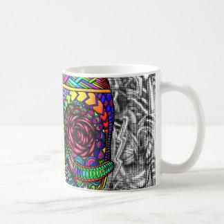 Tête morte en spirale d'art abstrait de crâne de mug