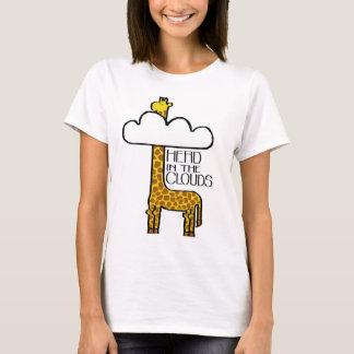 """""""Tête T-shirt de dames de girafe dans nuages"""""""