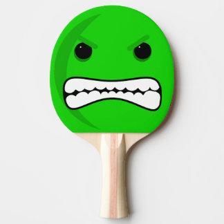 Tête verte raquette de ping pong