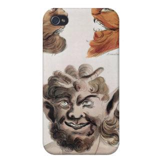 Têtes des démons mauvais étuis iPhone 4