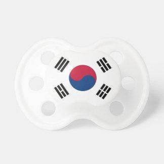 Tétine avec le drapeau de la Corée du Sud