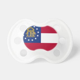 Tétine avec le drapeau de la Géorgie, Etats-Unis