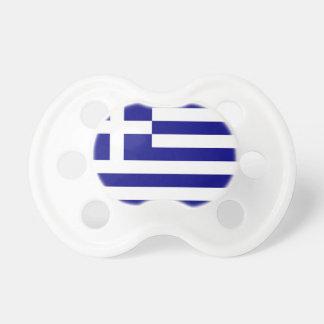Tétine avec le drapeau de la Grèce