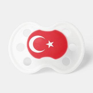 Tétine avec le drapeau de la Turquie