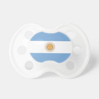 Tétine avec le drapeau de l'Argentine