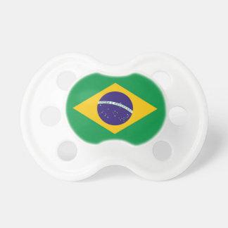 Tétine avec le drapeau du Brésil