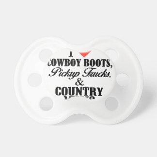 Tétine bottes de cowboy du coeur i b