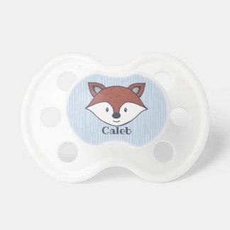 Tétine Cadeau personnalisé par Fox mignon de région