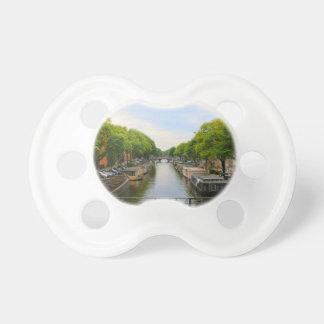 Tétine Canal, ponts, vélos, bateaux, Amsterdam, Hollande