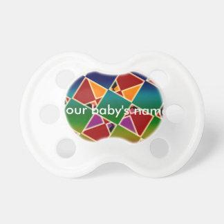 Tétine carrée colorée carrelée de bébé de motif
