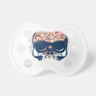Tétine conception colorée par zombi mort de crâne