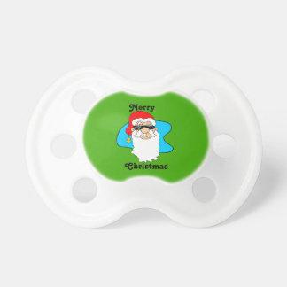 Tétine Cool Père Noël de Joyeux Noël dans des lunettes de