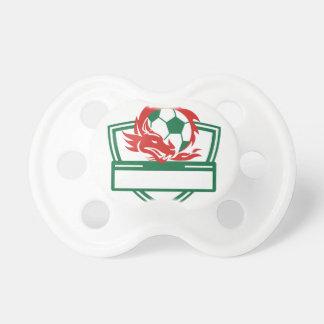Tétine Crête rouge de ballon de football de dragon
