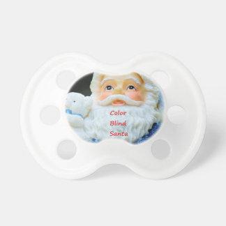 Tétine Daltonisme Père Noël avec l'ours blanc de bébé
