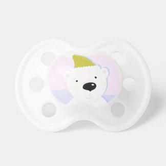 Tétine de bébé avec l'ours blanc