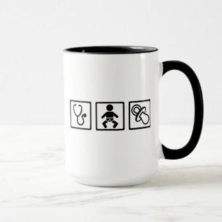Tétine de bébé de sage-femme mug