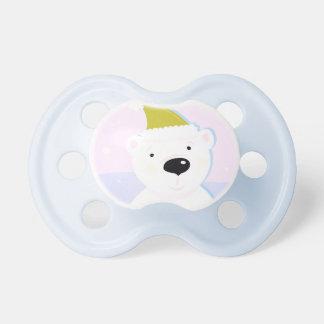 Tétine de bébé d'enfants avec l'ours nordique