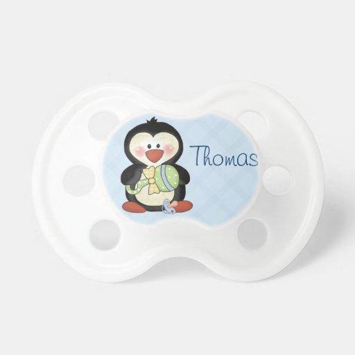 Tétine de pingouin de bébé à personnaliser