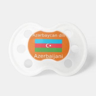 Tétine Drapeau de l'Azerbaïdjan et conception de langue