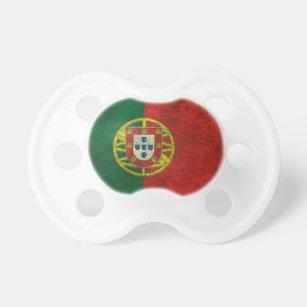 Tétine Effet en acier âgé par drapeau portugais