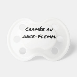 Tétine ÉNERGIE CRAMÉE AU LANCE-FLEMME - Jeux de mots