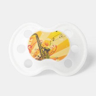 Tétine Faisceaux bariolés de saxophone de la musique