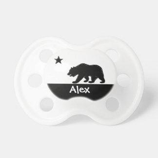 Tétine faite sur commande de bébé d'ours blanc noi