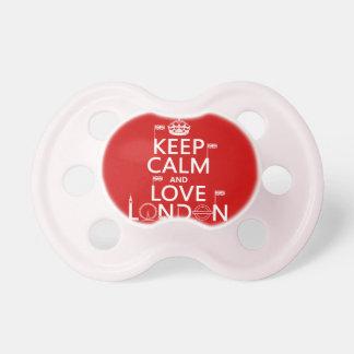 Tétine Gardez le calme et aimez Londres