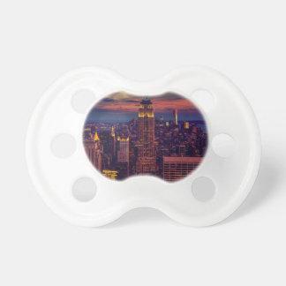 Tétine Horizon de crépuscule de New York City