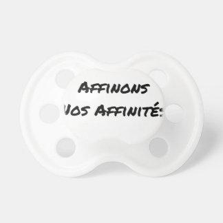 Tétine IN FINE, AFFINONS NOS AFFINITÉS - Jeux de mots