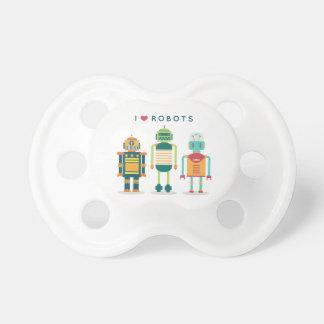 Tétine J'aime les robots - bavoir unique pour les enfants