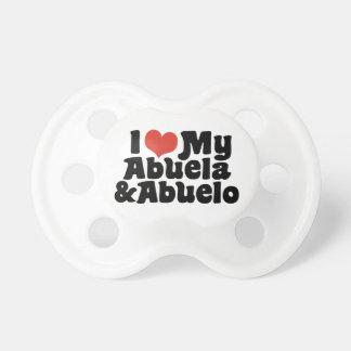 Tétine J'aime mon Abuela et Abuelo