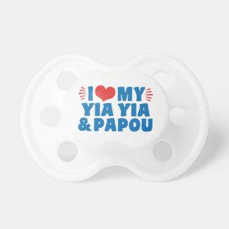 Tétine J'aime mon Yia Yia et Papou