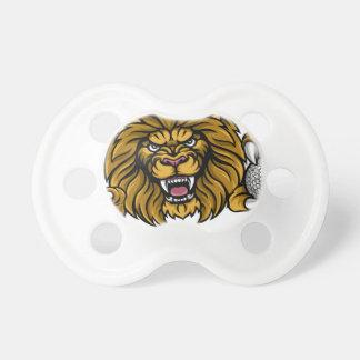 Tétine La boule de golf de lion folâtre la mascotte