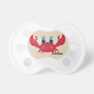 Tétine Le crabe heureux mignon de l'enfant