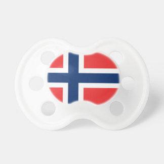 Tétine Le drapeau de la Norvège - la Scandinavie
