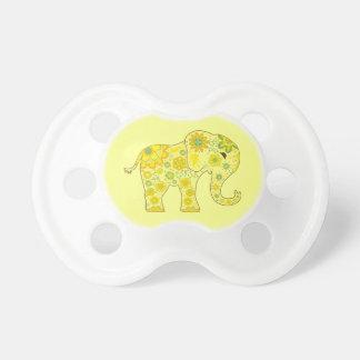 Tétine L'éléphant fleurit le jaune