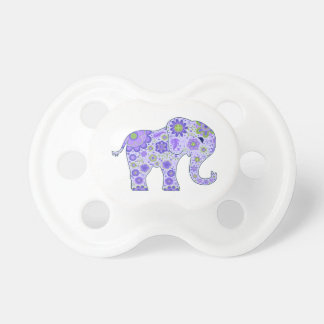 Tétine L'éléphant fleurit le pourpre