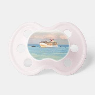 Tétine Lever de soleil en pastel avec le bateau de