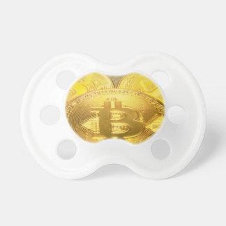 Tétine Macro grand mojo rond de Bitcoins