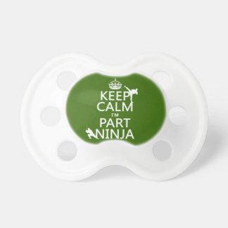 Tétine Maintenez calme je suis partie Ninja (dans toute