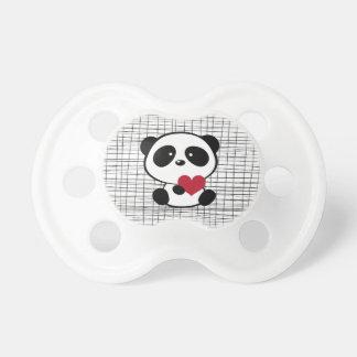 Tétine mignonne de coeur de panda