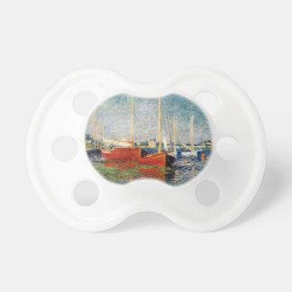 Tétine Monet - les bateaux rouges Argenteuil