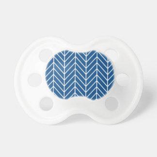 Tétine motif bleu de chevron