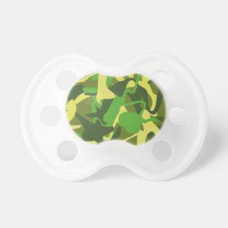 Tétine Motif coloré audacieux de Camo de nature militaire