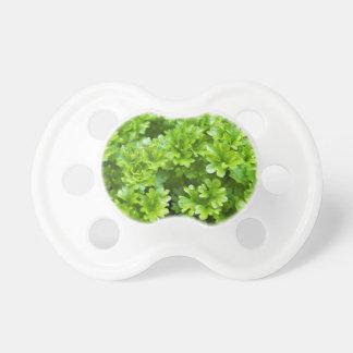 Tétine Motif vert d'herbe de persil
