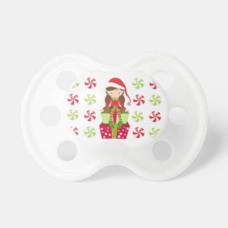 Tétine Noël d'écrasement de sucrerie